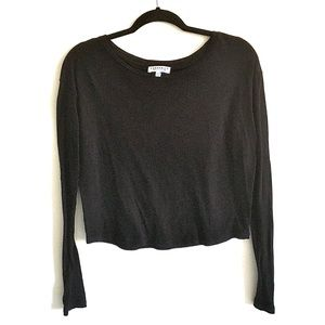 ARITZIA Cashmere Blend Long Sleeve Cropped Top